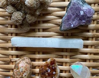 Healing Crystal Set: Abundance, Protection & Calm