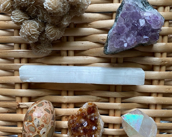 Featured listing image: Healing Crystal Set: Abundance, Protection & Calm