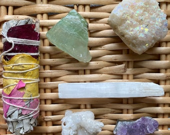 Healing Crystal Set: Focus, Angelic Protection & Peace