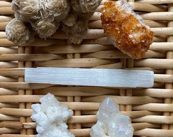 Healing Crystal Set: Angel Connection, Abundance & Peace