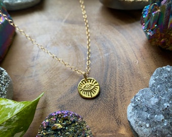 Evil Eye 14k Gold Filled Necklace