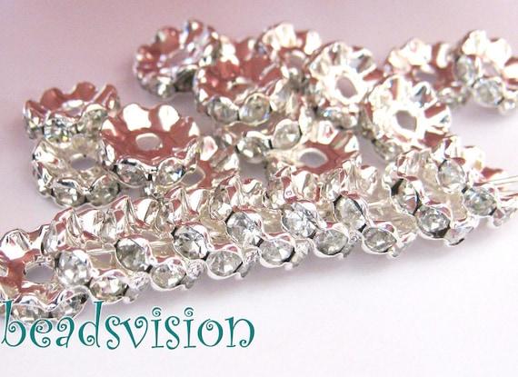 50 pendientes versión materiales para 12mm cabuchons color plata #s538