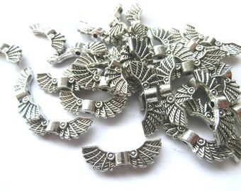 Angel Wing Wing Spacer 22mm 30 / 90 Piece Color Antique Silver Lucky Charm Guardian Angel #S099