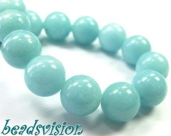 jade balls turquoise beads 1 strand 6-12mm