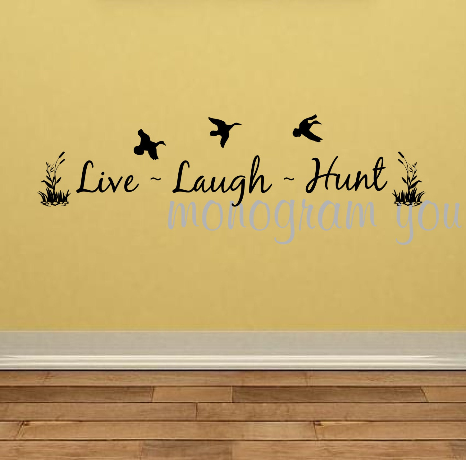 Live Laugh Hunt Vinyl Wall Decal   Etsy