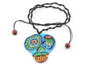 Skull necklace, Peacock, ...