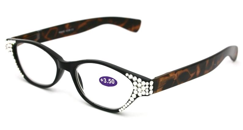 97eec5ca2146 Cleopatra Cat Eyes Women Reading Glasses with Swarovski 3.50