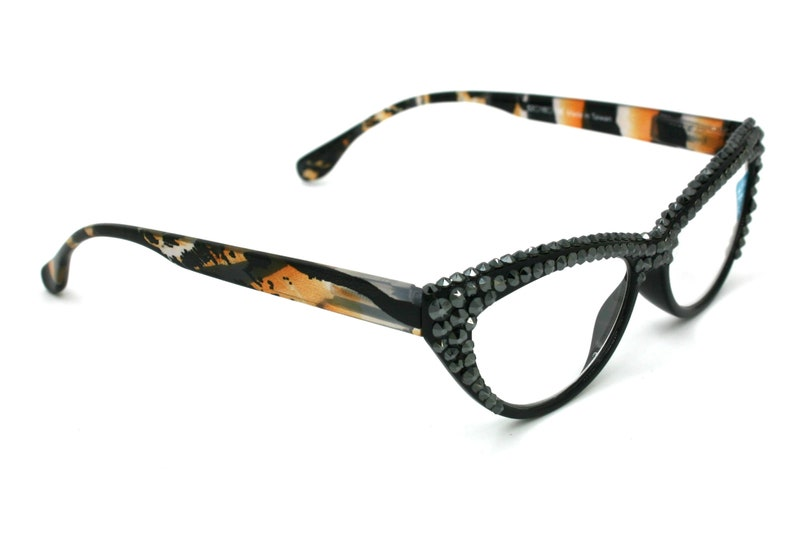 5ea8272fa44c The Bourgeois Cat Eyes Tiger Print Women Reading Glasses with
