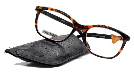 Optical Frame Premium Rectangular Venus, Tortoise Blue NY Fifth Avenue. Reading Glasses High End Readers +1.25..+4 Magnifying glasses