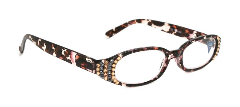 430155be54ab Classic Oval Women Reading Glasses W  SWAROVSKI Crystals 1.25
