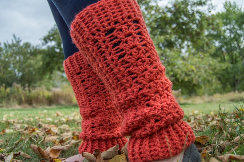 Crochet Leg Warmers Crochet Pattern Etsy