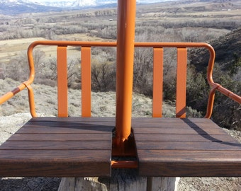 Antique Ski Lift Chair Swing. FREE SHIPPING.