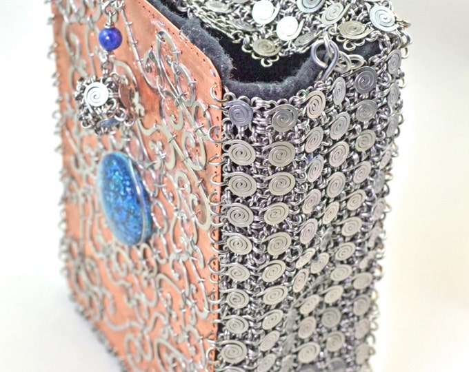 Stainless Steell & Copper Purse