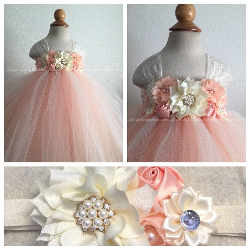 7a12cea089 Beautiful first birthday tutu dress flower girl dress
