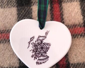 Scotland Mandala Hanging Decoration