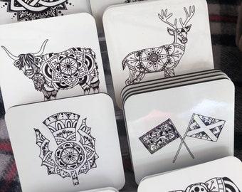 Scottish Mandala Coaster