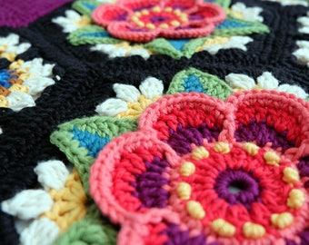 Frida's Flowers crochet blanket