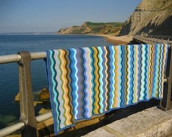 Attic 24 Coastal Ripple Blanket custom made to order