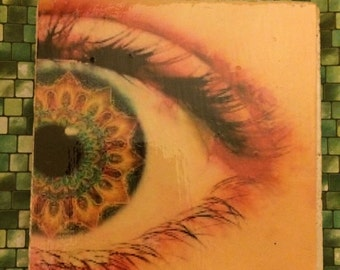 Trippy Eye  Coaster