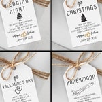 Custom Marriage Milestone Gift Tags - Couples Shower Gift - Engagement Gift Idea