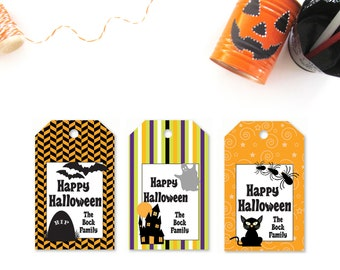 Custom Halloween Favor Tags