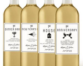 Wedding Milestone Wine Labels - Unique Wedding Gift - Wine Poem - Custom Wine Label - Marriage Milestones - Bridal Shower Gift - Couple Gift