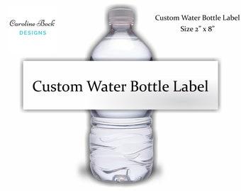 custom wedding water bottle labels wedding welcome bag etsy