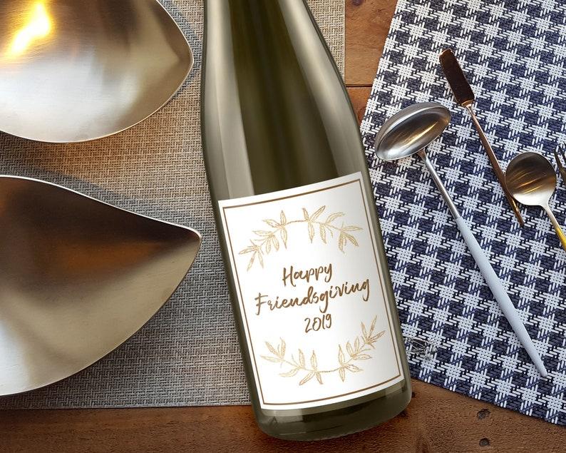 Friendsgiving Wine Label image 0