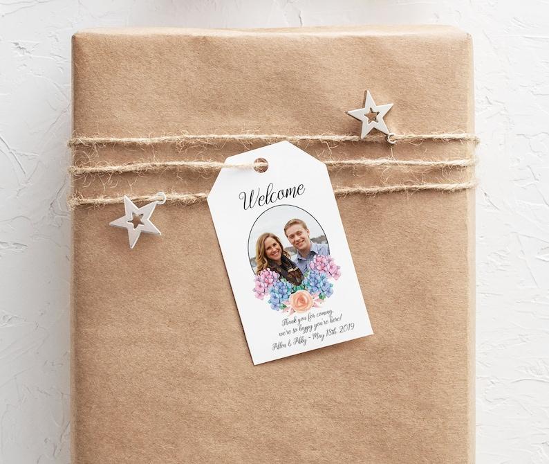 Custom Wedding Welcome Bag Tag with Photo image 0