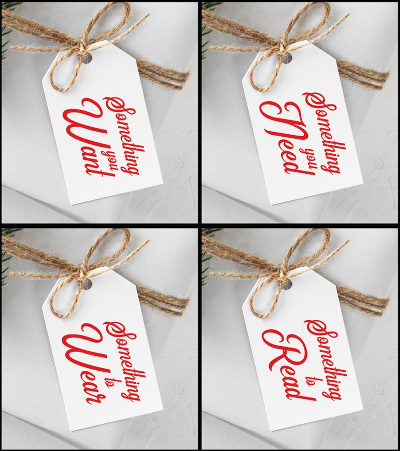 Christmas Rhymes Gift Tags Something You Want Something You image 0
