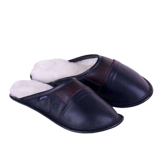 50292811014 Sheepskin Slippers 2-Color All-Purpose Leather Mules