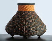 Altuzarra x Etsy x  Weavingart, Made To Order, Limited edition, Woven basket, Woven sculpture, zig-zag pattern, medium size