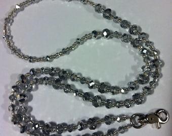 Silver Lights Crystal Lanyard