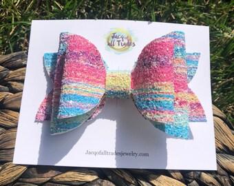 Pastel Glitter Aria Bow