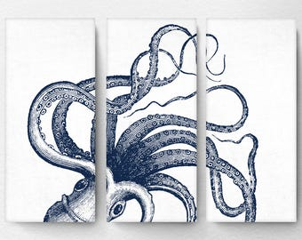 Nice Octopus Canvas, Octopus Art, Octopus Wall Art, Octopus Decor, Nautical Art,  Nautical Decor, Nautical Wall Decor, Large Canvas Wall Art