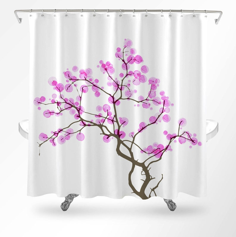 Cherry Blossom Shower Curtain Floral