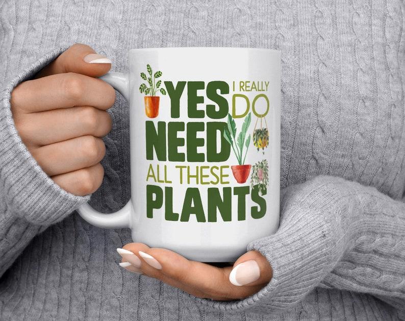 Plant Mug Houseplant Lover Cup Plant Lady Mug Gardener image 3