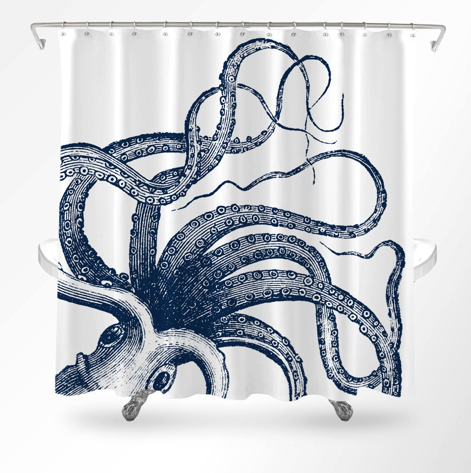 Octopus Shower Curtain Nautical