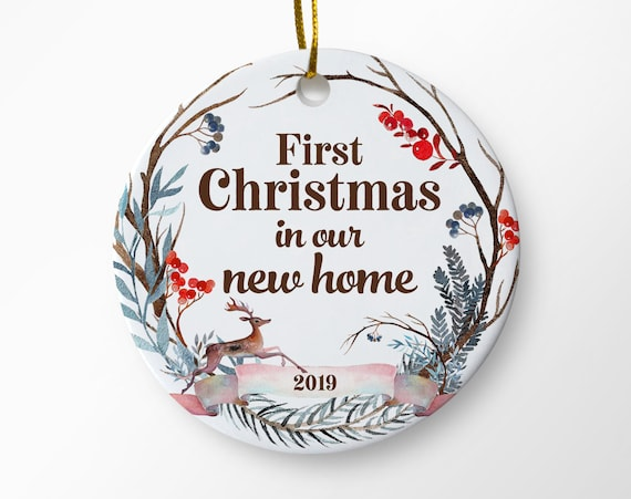 first christmas in our new home 2019 ornament housewarming etsyNew Home Christmas Ornament 2019 #3