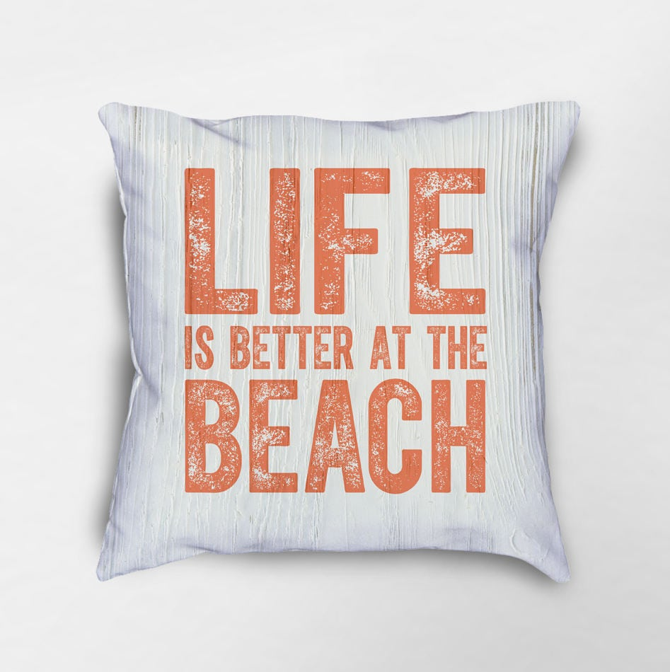Beach Home Decor Pillows: Life Is Better At The Beach Pillow Beach House Decor Beach
