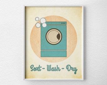 Laundry Room Decor,  Laundry Sign, Laundry Print, Laundry Room Poster, Vintage Laundry Art, Laundry Room Art, Laundry Room Sign, 0216