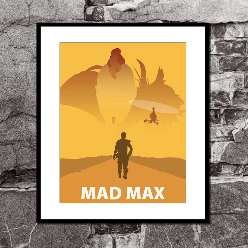Mad Max The Road Warrior Minimalist Movie Poster Movie Art | Etsy