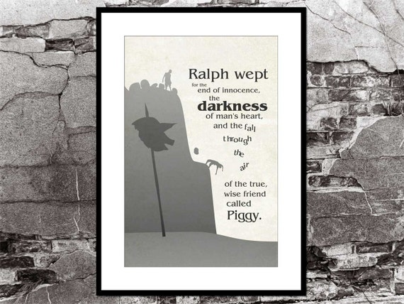 Lord Of The Flies Quotes | Lord Of The Flies William Golding Literary Quote Poster Etsy