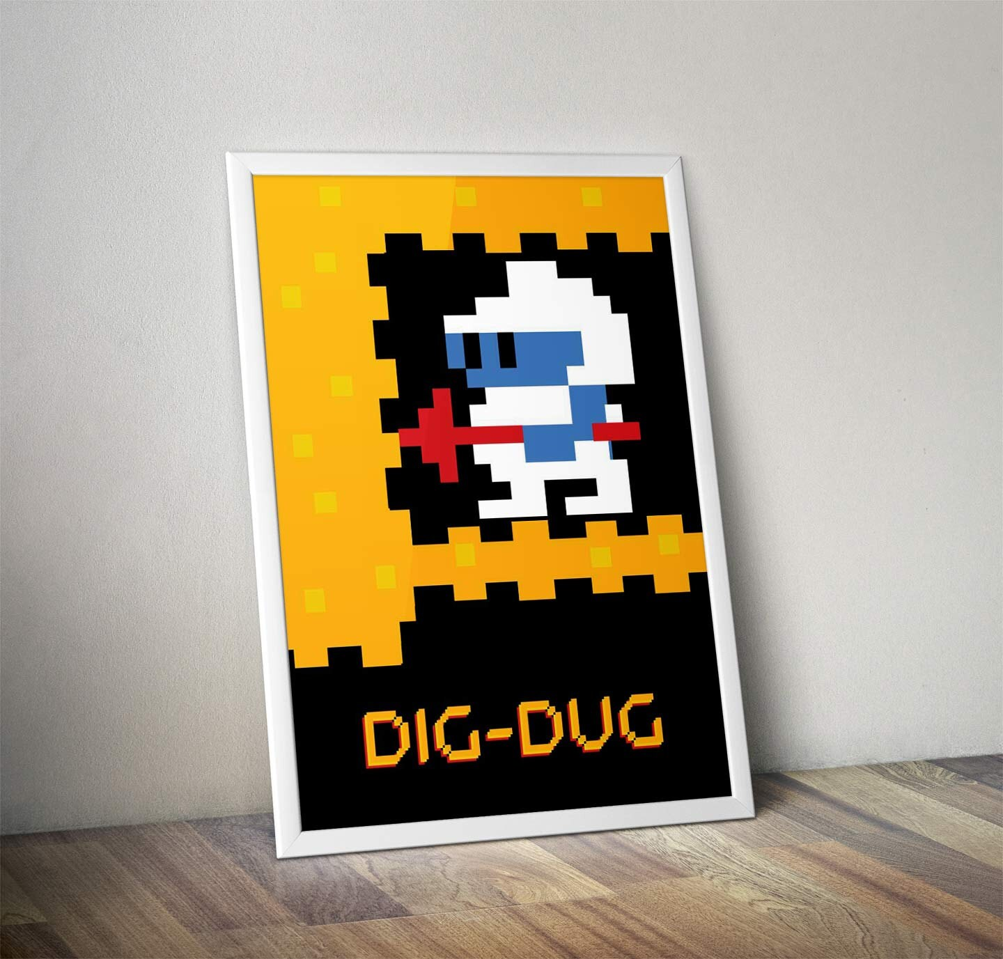 Dig-Dug Classic Video Game Inspired Movie Art Poster Print