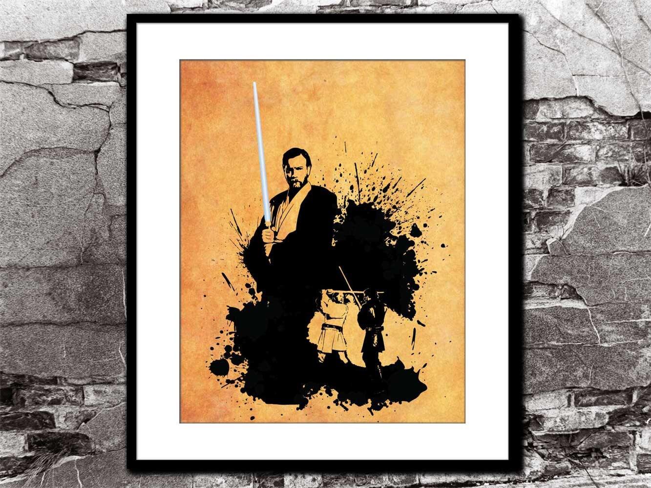 Obi Wan Kenobi Star Wars Inspired Movie Poster Minimalist