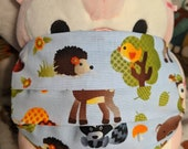 Hedgehog And Woodland Friends Deer Raccoon Owl Washable Filter Pocket Multi Layers Fabric Mask
