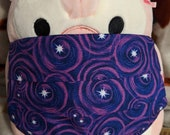 Purple Spiral Galaxy with Stars Washable Filter Pocket Multi Layers Fabric Mask