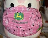 Pink John Deere Washable Filter Pocket Multi Layers Fabric Mask