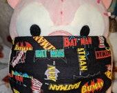 Batman and Robin Comic Logos Black Washable Filter Pocket Multi Layers Fabric Mask
