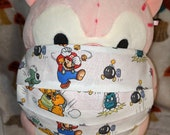 Mario and Goombas Washable Filter Pocket Multi Layers Fabric Mask